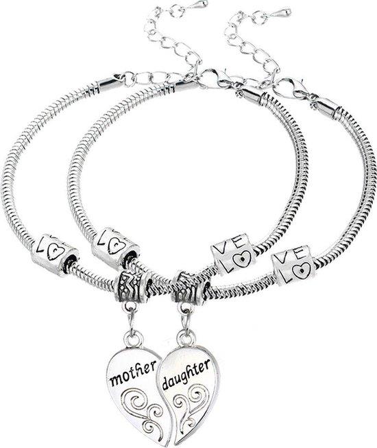 Wonderbaarlijk bol.com | Hart armbanden (2 stuks) moeder dochter | Mother KY-24