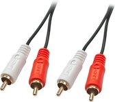 LINDY 35664 Cinch Audio Aansluitkabel [2x Cinch-stekker - 2x Cinch-stekker] 10.00 m Zwart