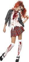 SMIFFYS - Zombie schoolmeisje kostuum Halloween outfit - M - Volwassenen kostuums