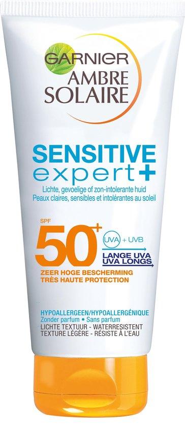 Garnier Ambre Solaire Sensitive Expert Zonnebrandcrème SPF 50+ - 200 ml - Hypoallergeen