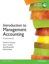 Boek cover Introduction to Management Accounting Global Edition van Charles t. Horngren (Paperback)