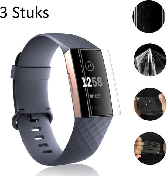 3x Screen Protector Voor Fitbit Charge 3 - Screen Protective Set