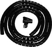 Kabel geleider - kabelslang - zwart - met montagetool - 2 meter - 25 mm doorsnede