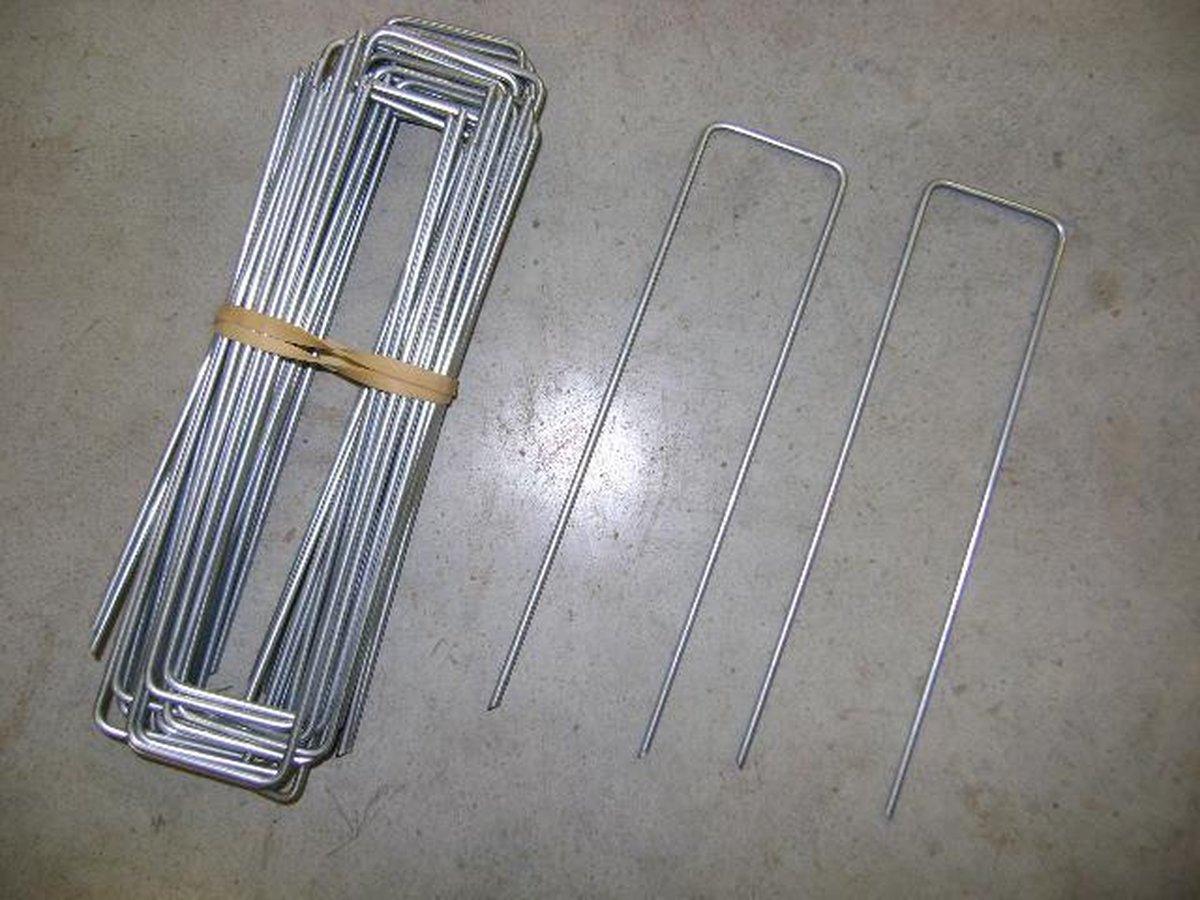 gronddoekpennen  , antiworteldoek haken , kunstgras haken 20 x 5 x 20 cm ( 20 st ) - Direct Gras