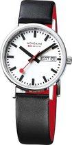 Mondaine Classic A667.30314.11SBB Horloge - Leer - Zwart - Ø36 mm
