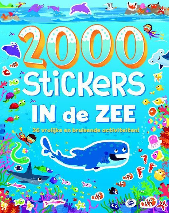 2000 stickers In de zee - none |