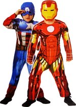 Reversible deluxe Capt. America/Iron Man - Child - Carnavalskleding
