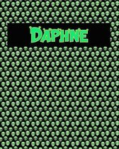 120 Page Handwriting Practice Book with Green Alien Cover Daphne