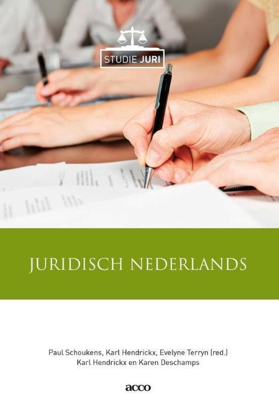 Studie Juri - Juridisch Nederlands - Paul Schoukens  