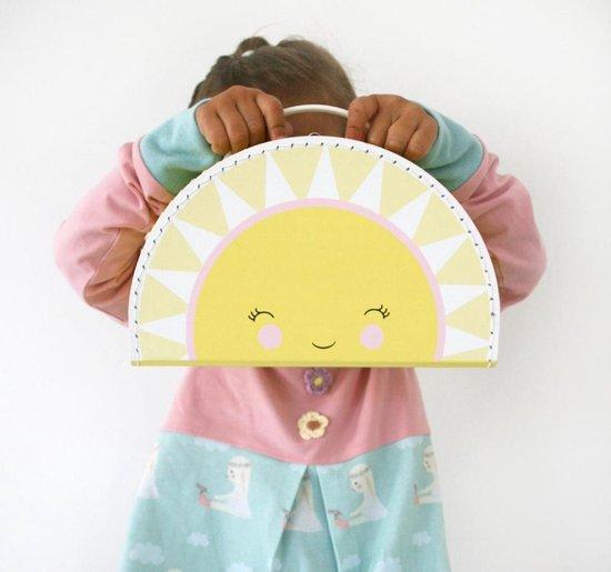 Kinderkoffer Koffer kinderkamer - Zon - Geel - 24cm