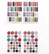 Set van 6 Stickervellen Colors and Prints | Beschrijfbare Stickers