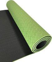 Sportbay Eco Deluxe - Fitnessmat - 183 x 61 cm - Groen/Grijs