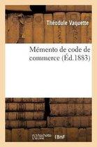 Memento de code de commerce