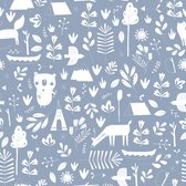 Little Dutch - Behang kinderkamer - Adventure Blue - blauw - 53cmx10m
