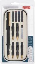 Bruynzeel kalligrafie 14-delig met instructies - luxe