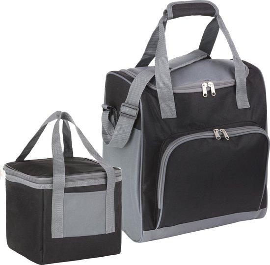 Basis Sterke Koeltas Set | 25 + 10 Liter Coolerbag | Zwart