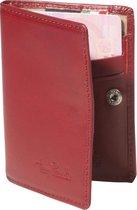 Tony Perotti Furbo Pure Mini RFID portemonnee met papier- en kleingeldvak - Rood