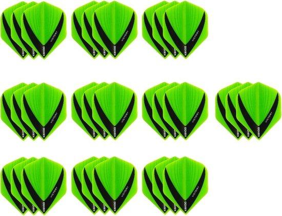 10 Sets (30 stuks) Stevige XS100 Vista - flights - Multipack - Groen - michael van gerwen