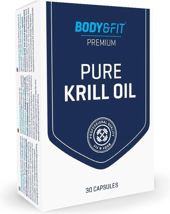 Body & Fit Pure Krill Oil - Omega-3 krillolie, fosfolipiden en astaxanthine - 30 capsules