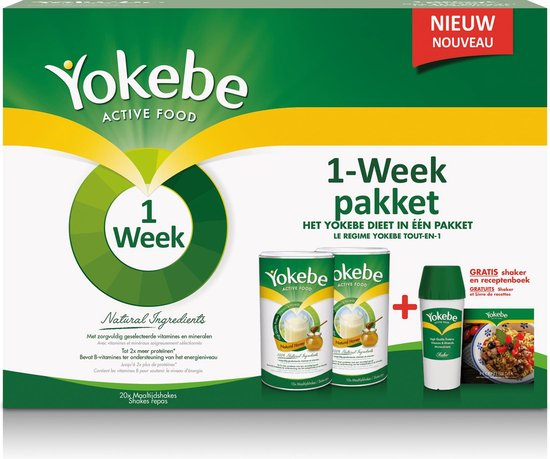 Yokebe Natural Honey Maaltijdshake + 1 Week Turbo - 1000 gram