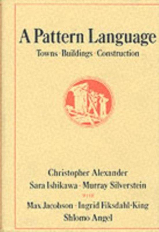 Boek cover A Pattern Language van Christopher Alexander (Hardcover)