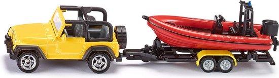 Afbeelding van SIKU 1658 Jeep met Boot speelgoed