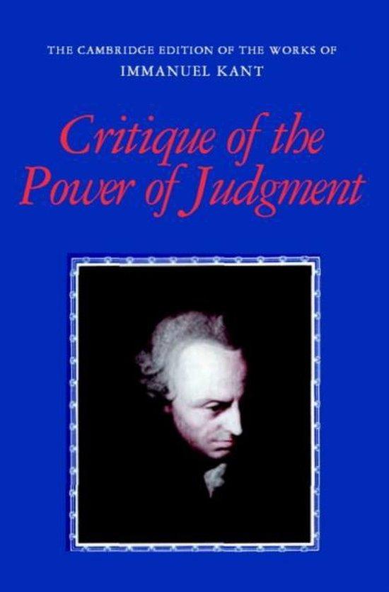 Boek cover Critique of the Power of Judgment van Immanuel Kant (Paperback)