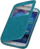 Polar View Map Case Turquoise Samsung Galaxy S3 Mini I8190 TPU Bookcover Hoesje