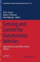 Sensing and Control for Autonomous Vehicles