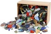 Mozaiek, afm 15-60 mm, kleuren assorti, Kleuren assorti, 2 kg