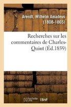 Recherches sur les commentaires de Charles-Quint