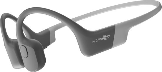 Aftershokz Aeropex - Bone conduction oordopjes met bluetooth - Grijs