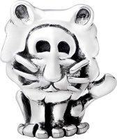 Quiges Bedel Bead - 925 Zilver - Horoscoop Leeuw Kraal Charm - Z256