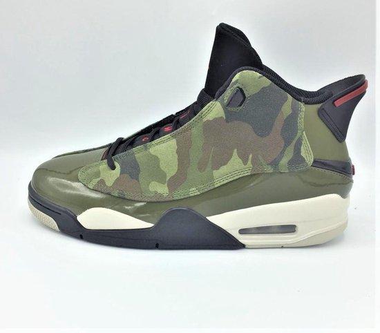 Nike Air Jordan DUB Zero - Medium Olive/ Gym Red/Black - Maat 43