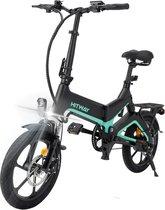 "Hitway 14F005 Elektrische Fiets E-bike | Opvouwbaar | 250W Motor | 7.5Ah | 16"" | Zwart / Groen"