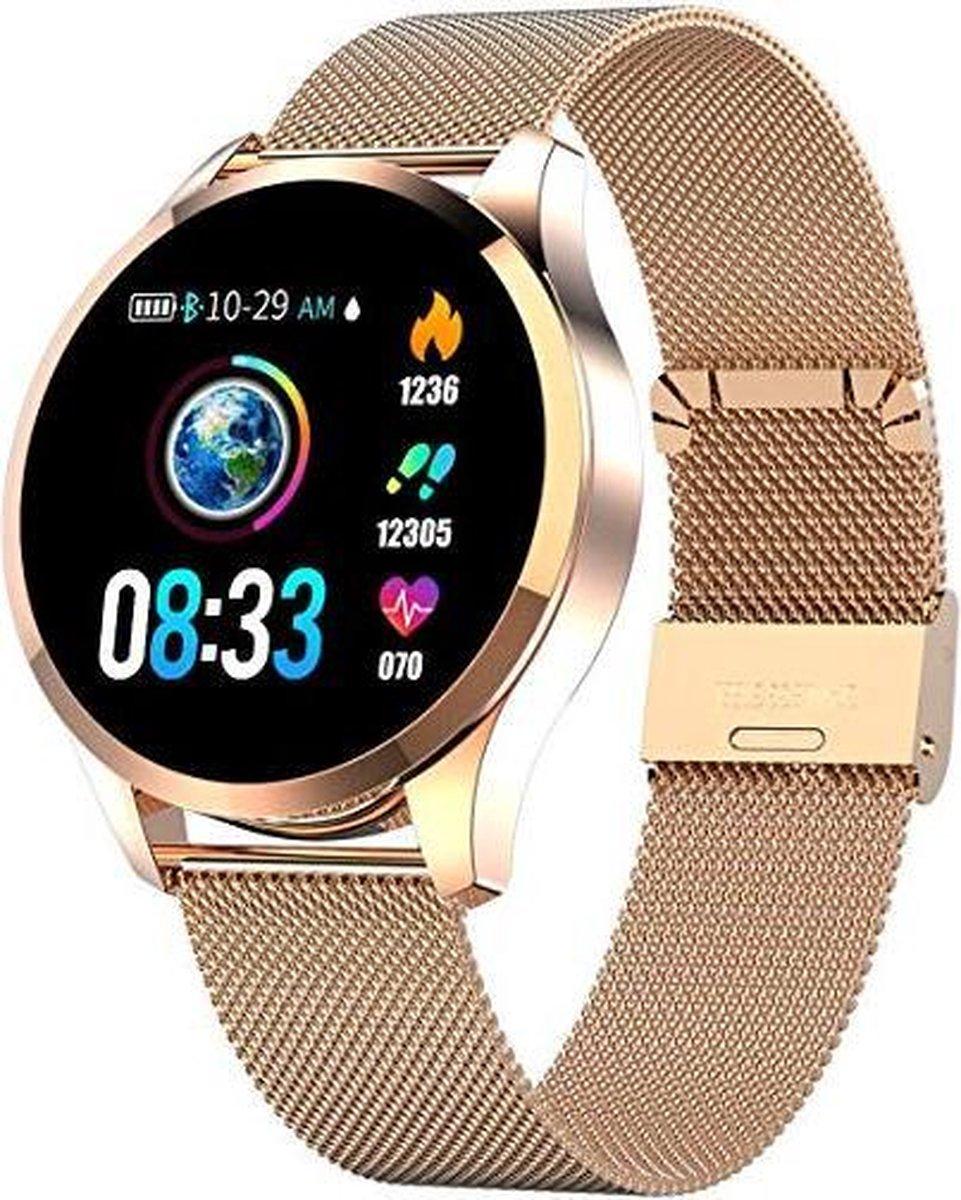 Belesy® Q9 - model 2021 - Smartwatch Dames - Smartwatch Heren - Horloge - Stappenteller - Hartslag -