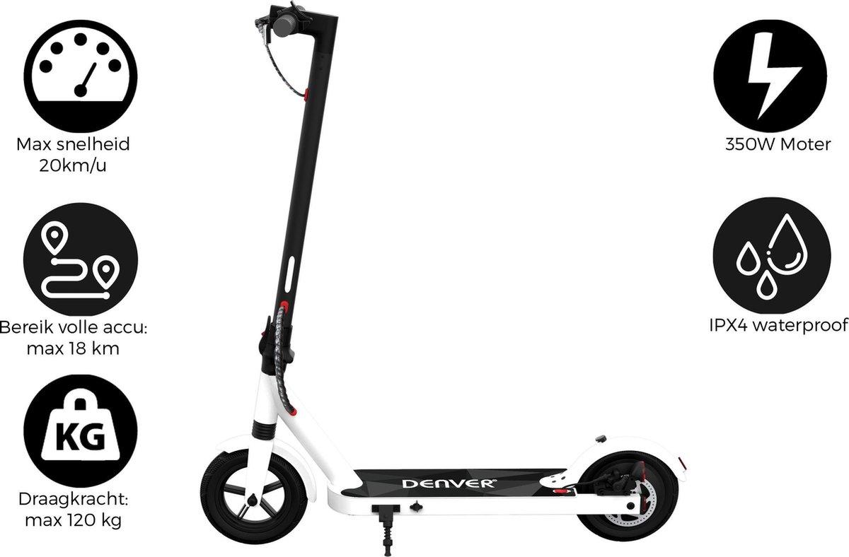 """Denver SEL-85350White - Elektrische step - 8.5"""" Banden - E-Step met aluminium frame - E-Scooter - Wit"""