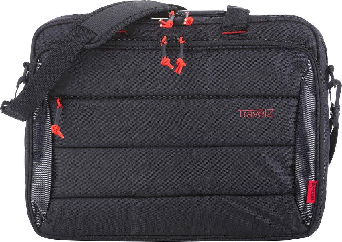 TravelZ Laptoptas 17 inch   Sportieve Lichtgewicht 17.3  Computertas   Waterafstotend   Zwart
