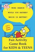 Fun Activity Game Book for Kids & Teens