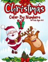 Christmas Color By Numbers For Kids Ages 4-8