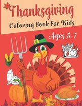 Thanksgiving Coloring Book For Kids Ages 5-7