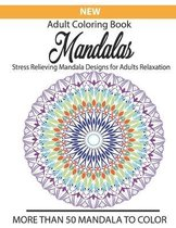 New Adult coloring book Mandalas stress relieving mandala designs for adults relaxation more than 50 mandala to color