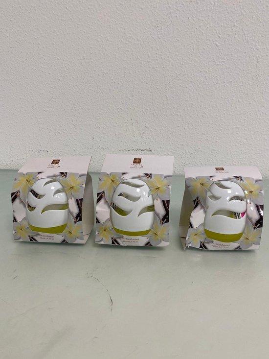 Aroma: luchtverfrisser- set van drie stuks (vanilla)