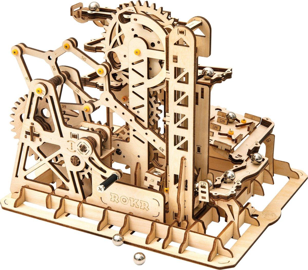 Robotime Houten 3d-puzzel Knikkerbaan 233-delig