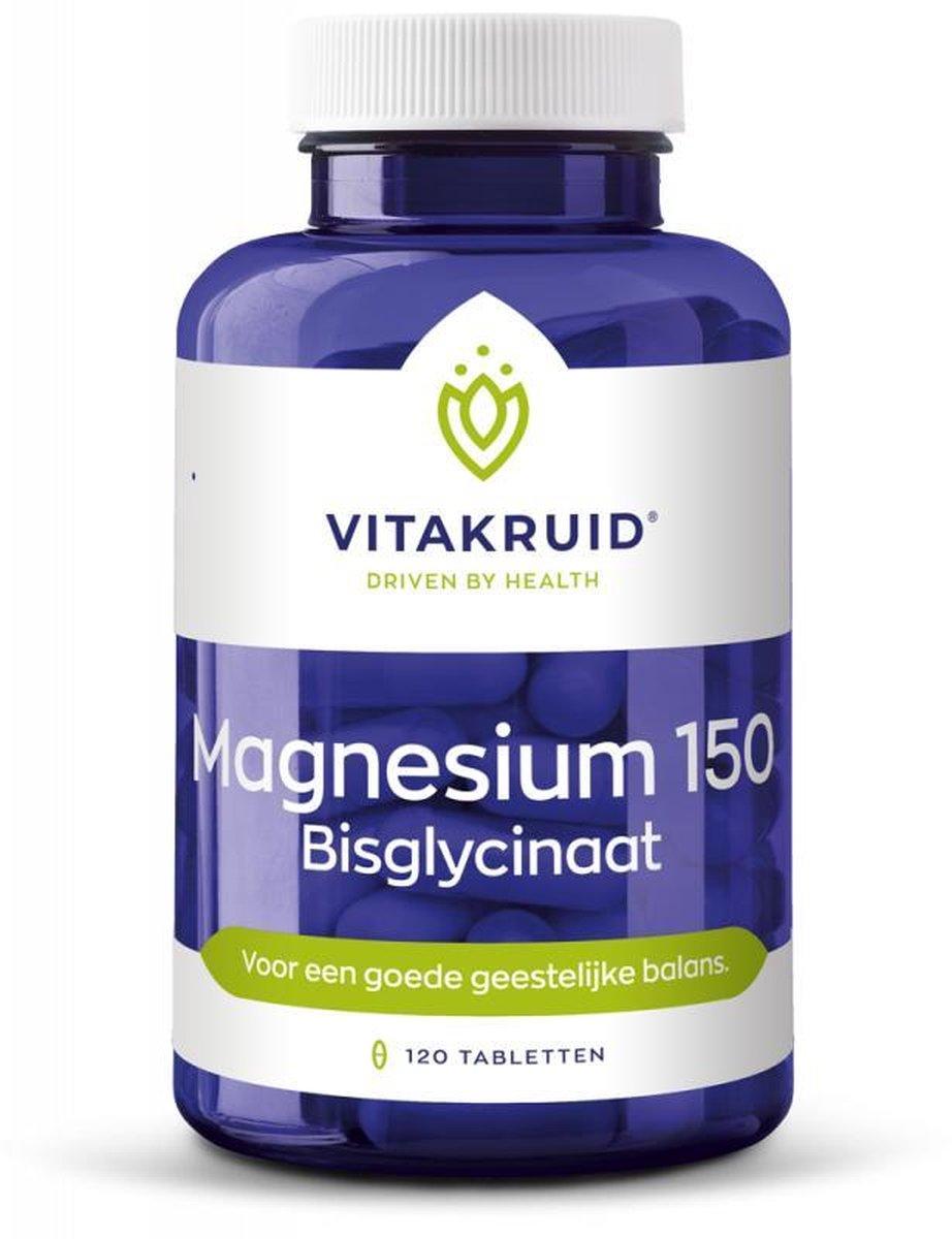 Vitakruid Magnesium 150 Bisglycinaat 120 tabletten