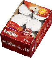 Bolsius - Maxi Waxinelichtjes - Wit - 10 branduren - 72 stuks