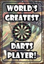 Wandbord - Worlds Greatest Darts Player - Multi