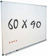 Whiteboard 60x90 cm - Magnetisch - Magneetbord / Memobord / Planbord / Schoolbord