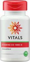 Vitals Vitamine D3 1000 IE Voedingssupplement - 100 vegicaps