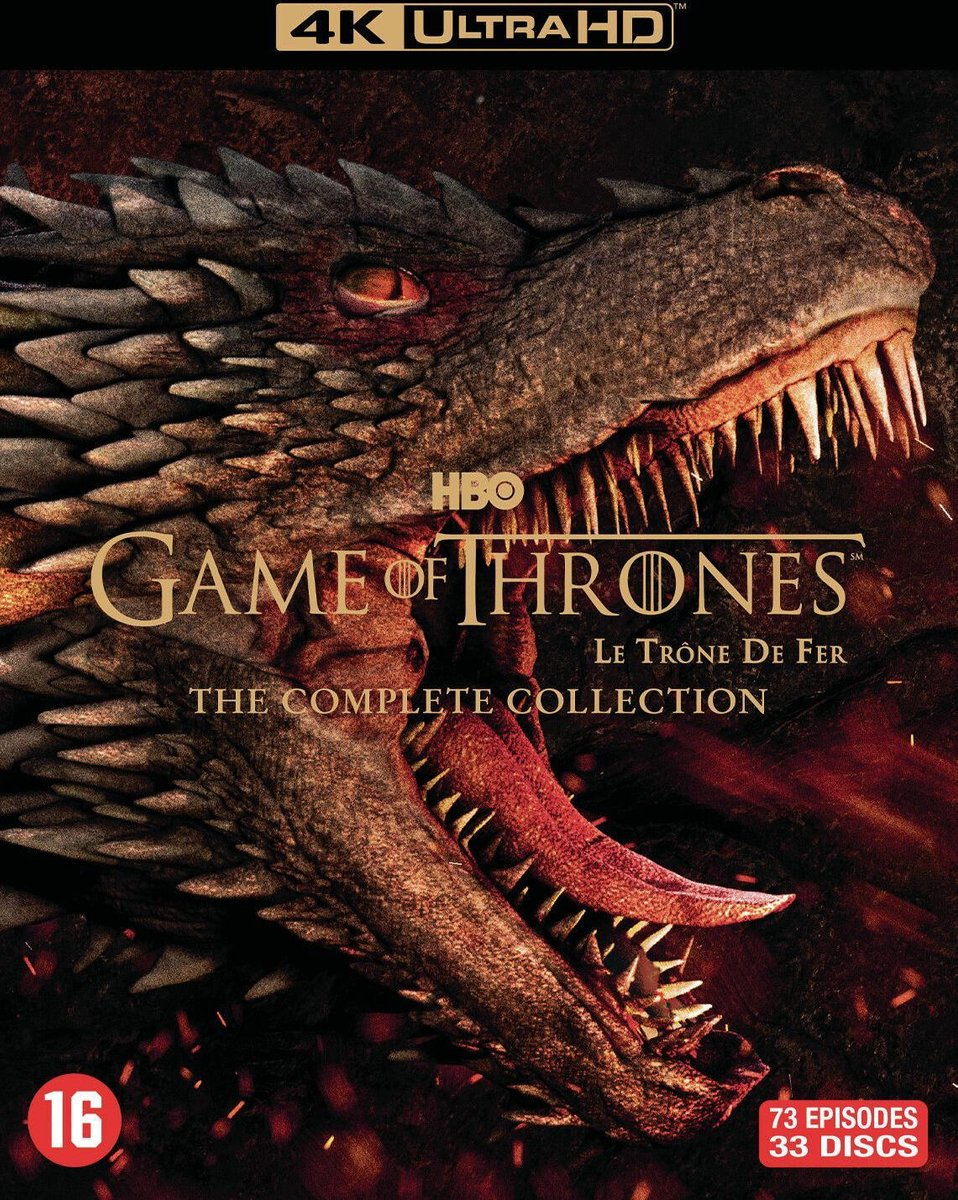Game of Thrones - The Complete Collection: Seizoen 1 t/m 8 (4K Ultra HD Blu-ray)-